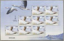 China PRC 2018-22 Wildgans Vogel Wild Goose Kleinbogen Postfrisch MNH