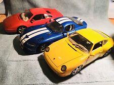 Pack Burago Ferrari Dodge Porsche 1:18 Maqueta Coche Coleccion