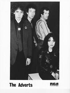 THE ADVERTS ~ Original UK 8x10 RCA Promotional Press Publicity Photo