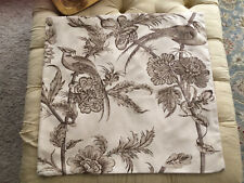 Pottery Barn Euro Pillow Sham/Pillow Cover in Print of Birds and Flowers