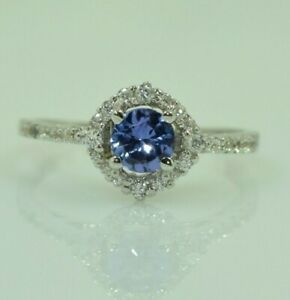 Pure 925 Solid Sterling Silver Genuine Tanzanite Ring Size US