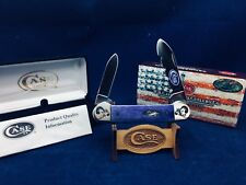 2014 Case Halloween Canoe Knife Ultra Violet Bone Scrolled Bolsters - SN#50-#59