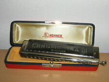 Hohner Mundharmonika Chromonika III im Original-Etui,