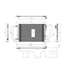 A/C Condenser TYC 4192 fits 13-16 Dodge Dart