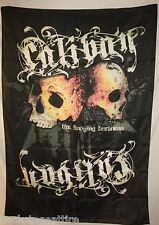 """Caliban The Undying Darkness Skulls 30"""" X 40"""" Fabric Poster Flag Tapestry-New!"""