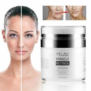 Miracle RETINOL Moisturiser Cream Active Retinol & Hyaluronic Acid Anti Ageing