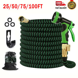 Garden Hose Expandable Lightweight Heavy Duty Flexible Water Hose 25/50/75/100FT
