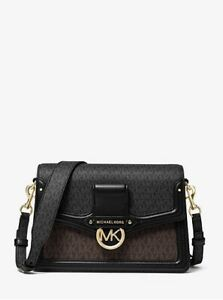 NWT Authentic MK Jessie Medium Two-Tone Logo Shoulder Bag Style# 30S0GI6L2V