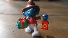 Vintage Smurf Figure - Christmas Present Lantern - 1984