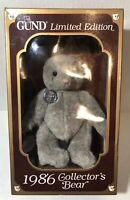 Limited Edition GUND Bear Original Gray Teddy Bear Collectors Edition 1986