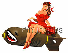 WWII Bomber Pinup Girl Waterslide Decal for guitars & more S865 by pinupsplus
