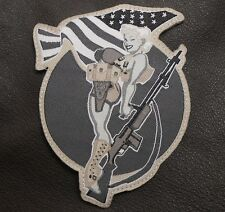 BAR GIRL PIN UP USA ARMY US TACTICAL BLACK OPS SWAT VELCRO® BRAND FASTENER PATCH