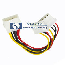 4-pin Molex Male to Y-Splitter 4 Pin Molex Dual Female IDE Power Cable Adapter
