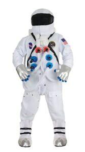 Astronaut Adult Deluxe White NASA Suit Costume Space Halloween Teen Boys Space