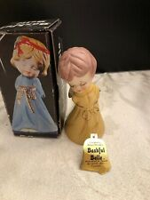 Vintage Jasco 'Merri-Bells' Porcelain Collectible Angel Christmas Bell w/tag Box