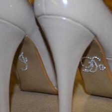 I Do Clear Crystal Diamonte Wedding Shoe Sticker