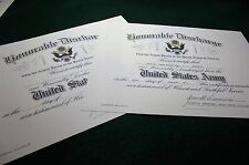 U.S. Army Honorable Discharge Replacement Certificate