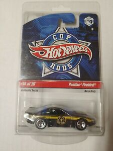 Hot Wheels Cop Rods Pontiac Firebird #14 of 26 Diecast HTF