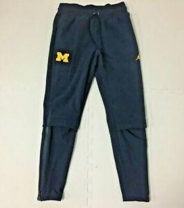 Nike Michigan Wolverines Jordan Sphere Performance Pants Blue Mens Size Small