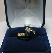 Bague en or jaune diamants et saphirs./Ring18k yellow gold  diamond and sapphire
