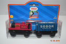 Thomas and & Friends~ wooden  ~ Rheneas and Scrap Car  ~ RARE ~~ NIP ~~~ NEW