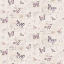 Miniatura Para Casa De Muñecas Mariposas En El Pálido Beige Papel Pintado