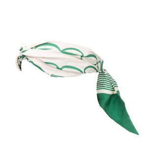 ELISABETTA FRANCHI Silk Headband Twisted Front Elastic Back Made in Italy