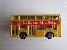 Matchbox:  1982 #17 London Bus, Leyland Titan:  It's The Real Thing.  Coke.