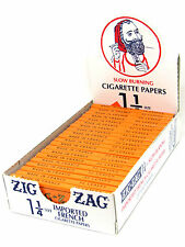 Zig Zag Cigarette Rolling Papers 24 Packs- 32 Papers a Pack- Orange 1 1/4 NEW