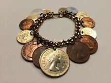 Vintage South African 1960s Coin Charm Bracelet : Suid Afrika Charm Bracelet