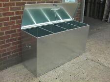 Horse Feed Bin 4 Compartment Animal/Livestock Food Storage Galvanised Steel (4c)