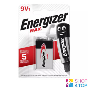 ENERGIZER MAX 9V 6LR61 BATTERY ALKALINE E BLOCK 6AM6 MN1604 EN22 NEW