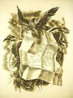 Napoleon Bonaparte Karte L'Empire Sc Albert Decaris Gravur 52cm 1952 31/33