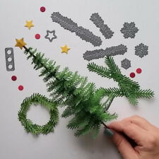 Christmas Tree Leaves Pine Metal Cutting Dies Stencil Xmas Scrapbooking Decor