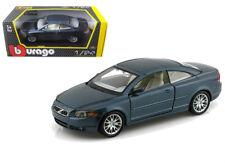 Volvo C70 Coupe Blue 1/24 Scale Diecast Car Model By Bburago 22100