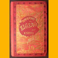 PREMIERS VOYAGES EN ZIGZAG R. Topffer Tome 2 Illustrations de Calame fin 19ème