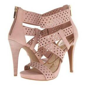 Women's Jessica Simpson CHINAH Heels Sandals Leather Pink Miss Piggy  US 9.5