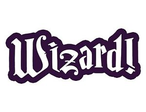 Wizard Sticker - Wizard Decal - Choose Color Size