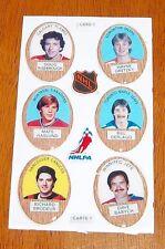 Funmate Puffy Stickers 1983-84 card # 1 / Wayne gretzky 6 players