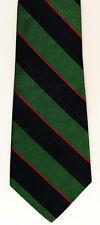 Tie, Van Heusen 417 Thick Diagonal Dark Green & Navy Stripes & Thin Red Stripes