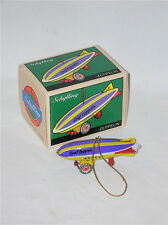 Vintage Tin Toy Christmas Ornament Graf ZEPPELIN by Schylling  FREE SHIPPING WOW