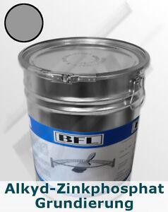 25 kg Alkyd-Zinkphosphat-Grund Grau, haftstarker Rostschutz  7,15 €/kg