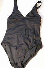 J.Crew $82 Triangle Tank Swim Suit 10 New Solid Charcoal gray 84520 one-piece