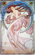 "Alphonse (Alfons) Mucha- Dance, 1898 -24""x36"" CANVAS ART"
