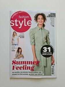 Fashion Style Nr.6/2021 Summer Feeling  mit Schnittmuster NEU