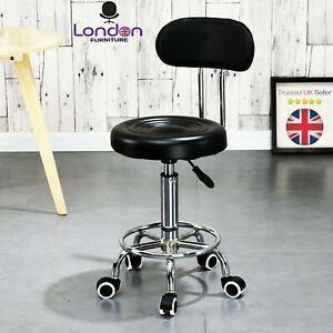Stool Swivel Chair Black Adjustable Height Chair Office Round Desk PC Stool UK