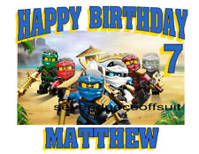 LEGO NINJAGO MOVIE CUSTOM PERSONALIZED BIRTHDAY T SHIRT  - ADD NAME AND AGE