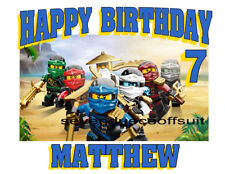 LEGO NINJAGO BIRTHDAY T SHIRT - ADD NAME AND AGE TO DESIGN