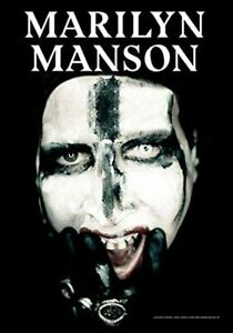 Marilyn Manson Face With Cross Large Textile Flag 1100mm x 750mm (hr)