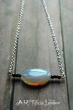 Opalite Beaded Choker Necklace | Silver Plated Mermaid Moonstone Jewellery